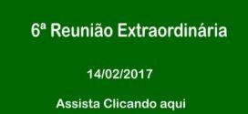 6ª Reunião Extraordinária Câmara de Vereadores de Corumbaíba 14 – 02 – 2017