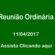 7ª Reunião Ordinária Câmara de Vereadores de Corumbaíba 11 – 04 – 2017